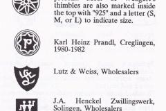 GERMAN MAKER'S & WHOLESALERS MARKS
